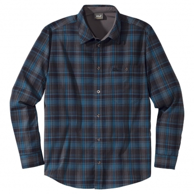 Jack Wolfskin Viewpoint Shirt Men - moroccan-bluechecks / L