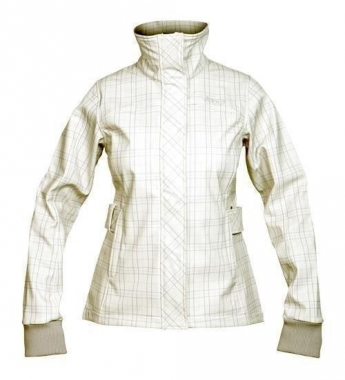 Bergans Mandal Lady Jacket - aluminium-violetcheck / S
