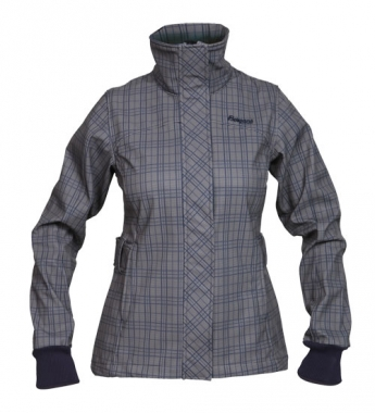 Bergans Mandal Lady Jacket - navy-browncheck / M
