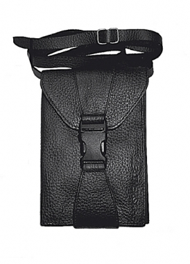 Leathersafe Shoulder Belt Wallet schwarz mit Maserung