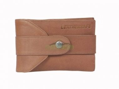 Leathersafe Shoulder Belt Wallet tabak