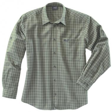 Jack Wolfskin CANYON SHIRT Men - solidgreen-checks / Xl