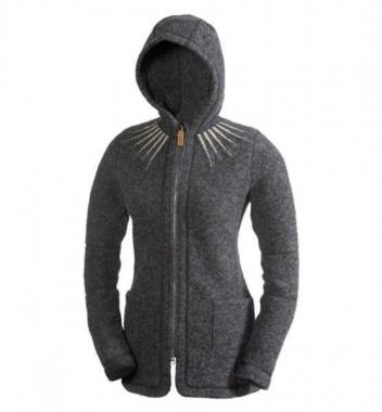 66 North Kaldi Womens Star Neck Jacket - ash-grey / S