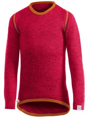 Woolpower Kinder Unterhemd Rund 200g - rot-orange / 116