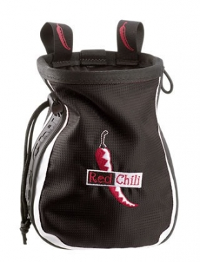 Red Chili Chalkbag Logo black