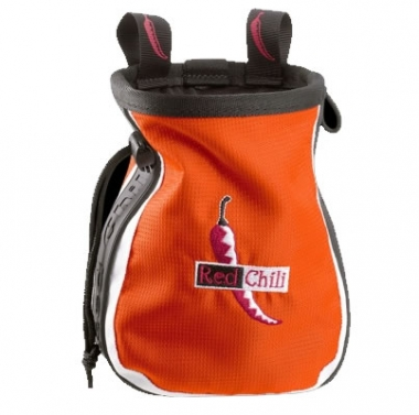 Red Chili Chalkbag Logo orange