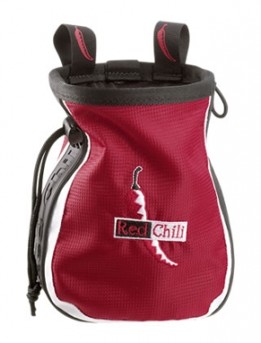 Red Chili Chalkbag Logo red