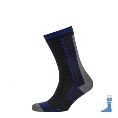 SealSkinz Thin Mid Length Socks - M 39-42