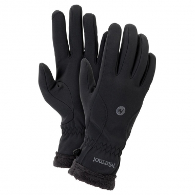 Marmot Womens Fuzzy Wuzzy Glove - black / S