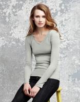 Damen Langarm T-Shirt, granit, Größe:: L