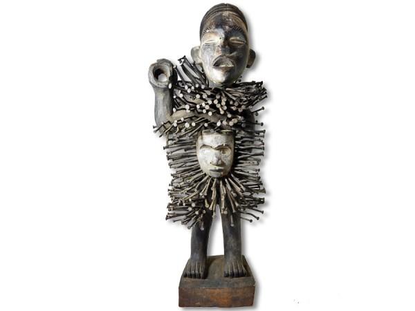 Schutzfetisch der Bakongo DR Kongo/Congo Afrika 65cm