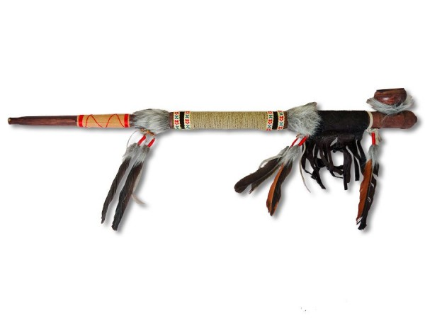 Indianer Friedenspfeife/Kalumet 70cm