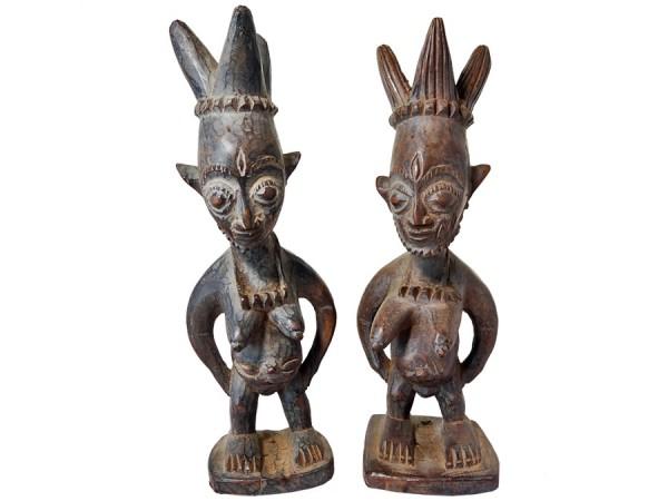 Figuren-Paar der Ibeji Nigeria/Afrika 24cm