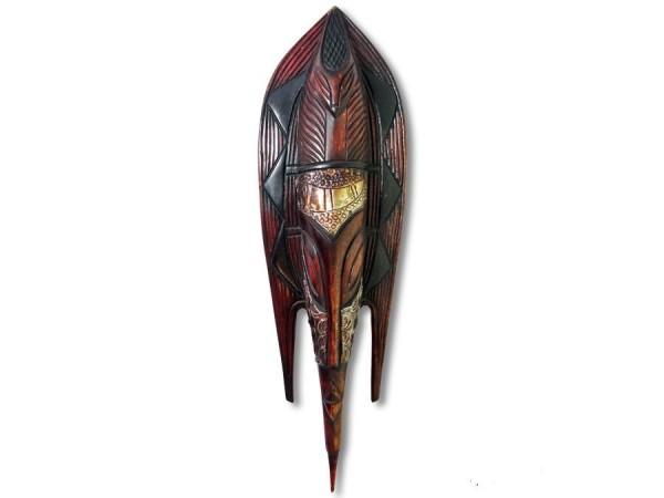 Wandmaske, Fischmaske Afrika 45cm Messing