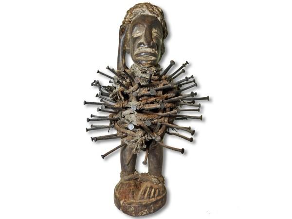 Nkisi Figur der Bakongo Kongo/Afrika 41cm