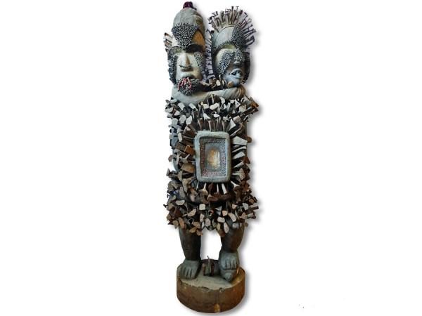 Nkisi, Nagelfetisch der Bakongo 1,45m