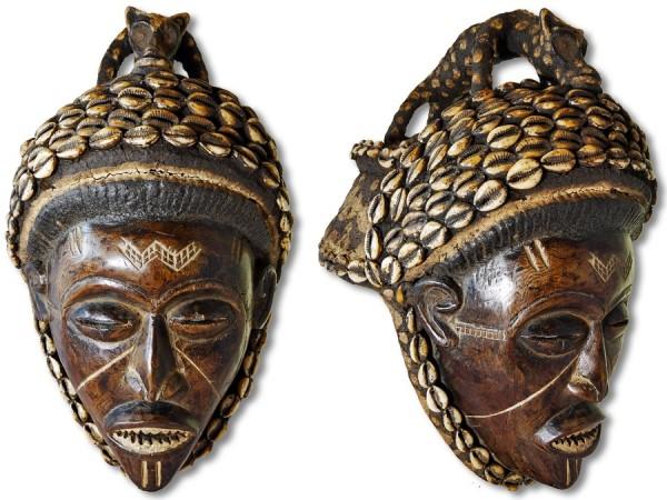 Chokwe Maske Kongo/Angola/Afrika 39cm