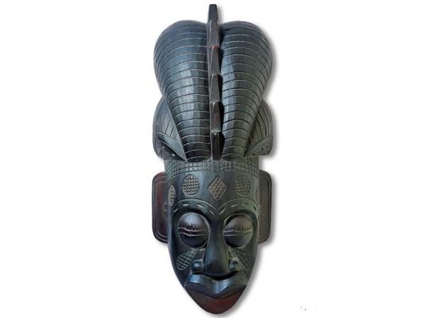 Maske / Afromaske Abeziaholz 50cm voluminös