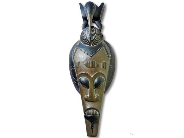Afromaske Vogel auf dem Kopf 65cm