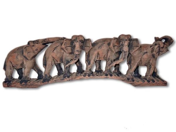 Elefantenherde, 4 Elefanten 42cm