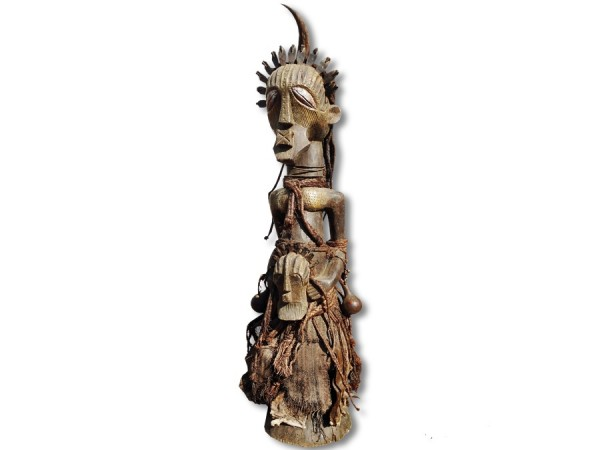 Fetisch Figur der Songye, DR Kongo/Afrika 1,52m