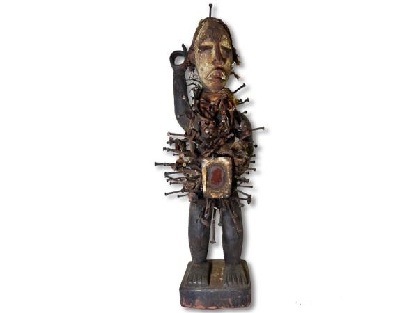Nkisi, Nagelfetisch der Bakongo 60cm
