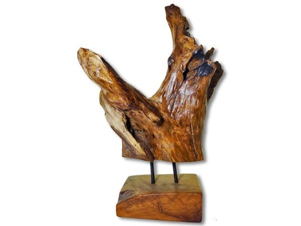 Treibholz, Wurzelholz Skulptur Teak 45cm
