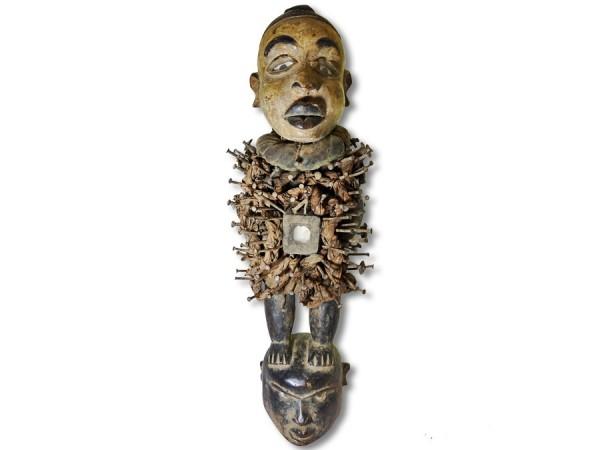 Nkisi Figur der Bakongo DR Kongo/ Afrika 57cm