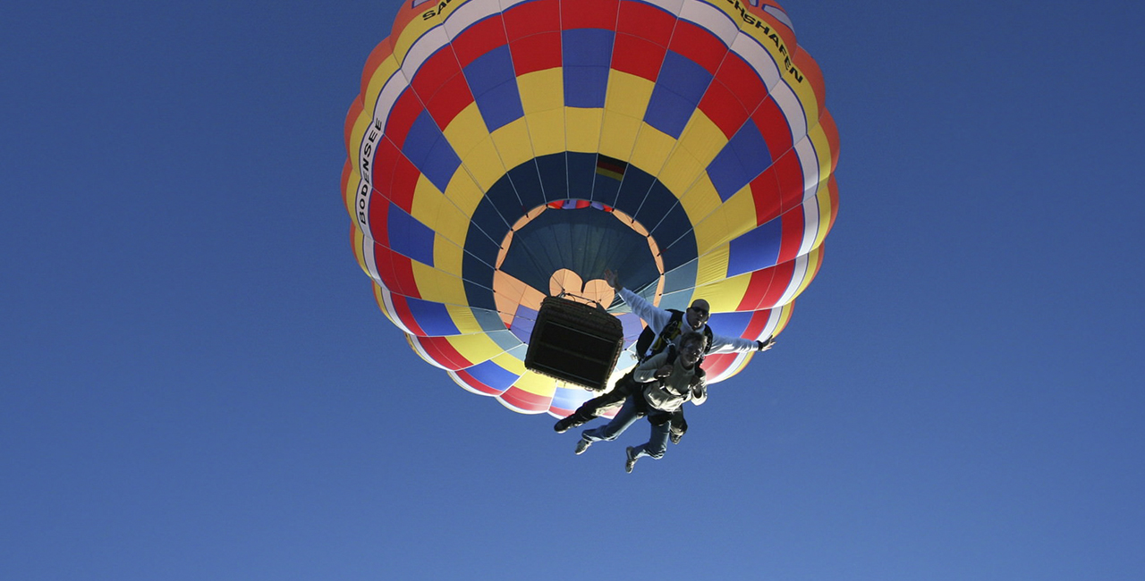 Ballon Fallschirm Tandemsprung in Eglofstal im Allgäu