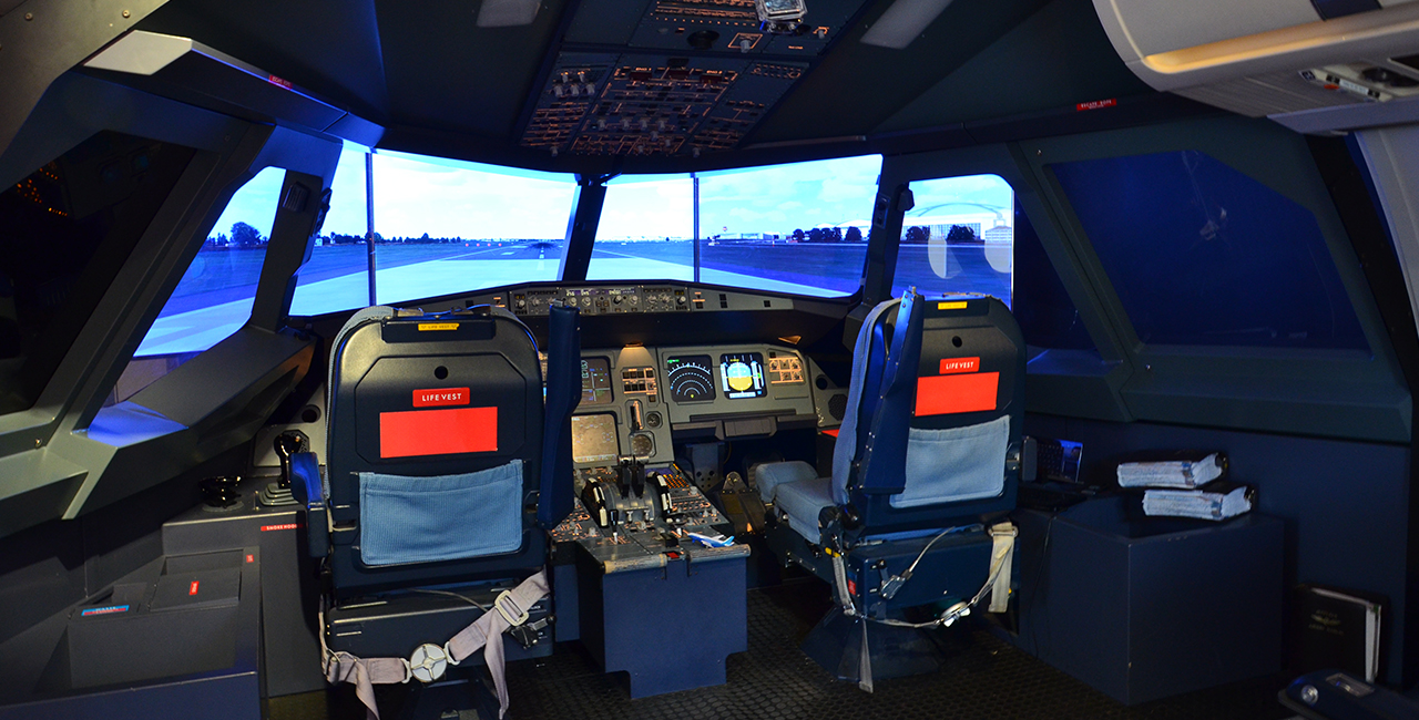 Flugsimulator Airbus A 320 in Hamburg-Langenhorn