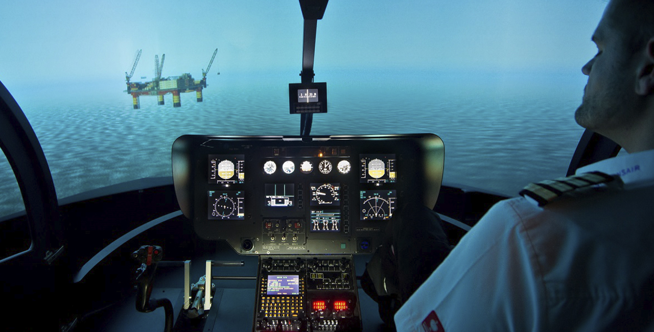 20 Min. Hubschrauber Flugsimulator in Frankfurt-Egelsbach