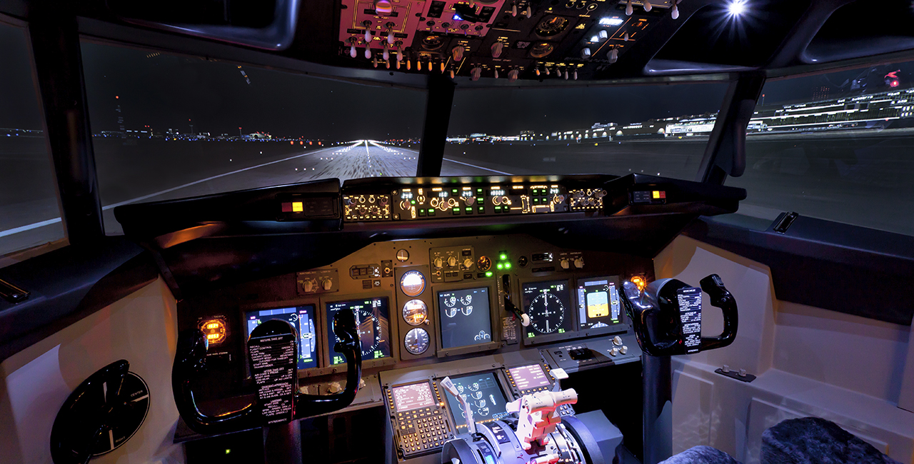 120 Min. Flugsimulator Boeing 737 in Frankfurt-Kalbach
