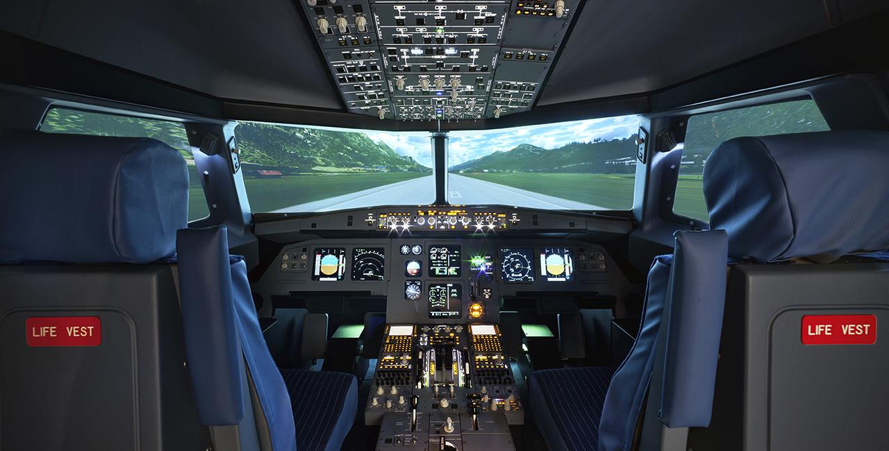 60 Min. Flugsimulator Airbus A320 in Frankfurt-Kalbach