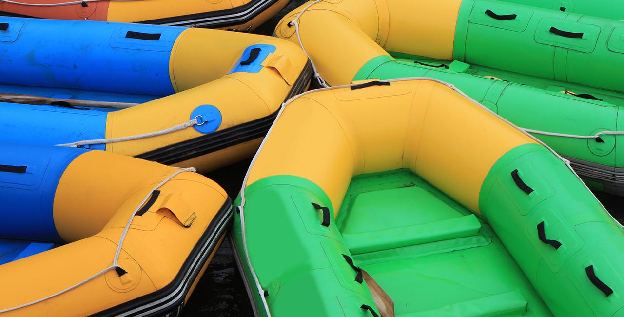 Schlauchboot-Tour auf der Iller Gunzesried