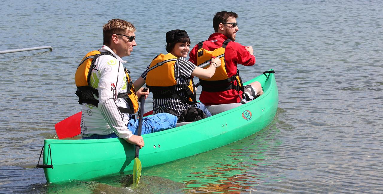 Kanutour auf dem Untersee in Iznang, Raum Singen