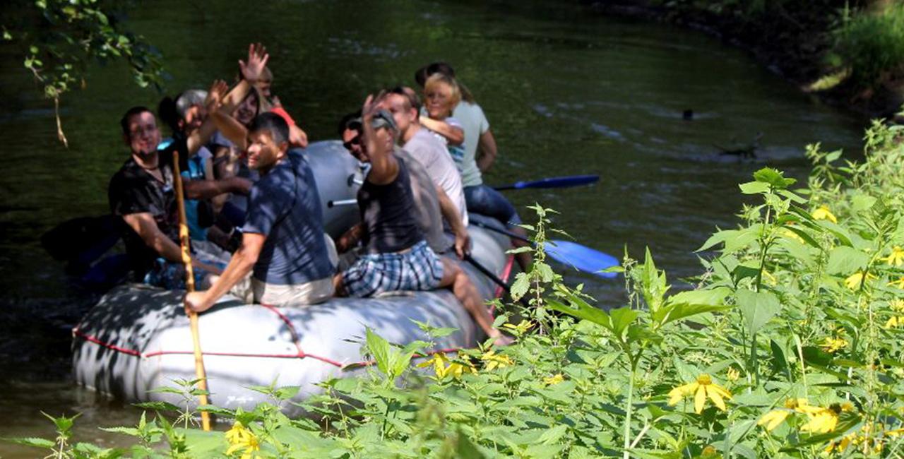 Schlauchboot Tour auf der Schöps und Spree Kringelsdorf