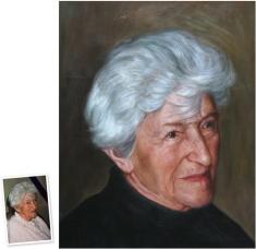 Portrait n. Foto photorealistisches Ölgemälde (90x50) München