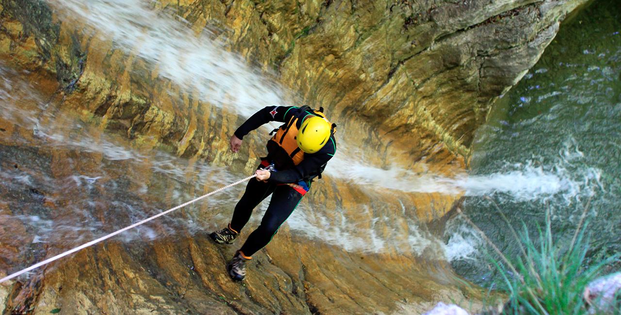 Canyoning Tour Fortgeschrittene Riezlern