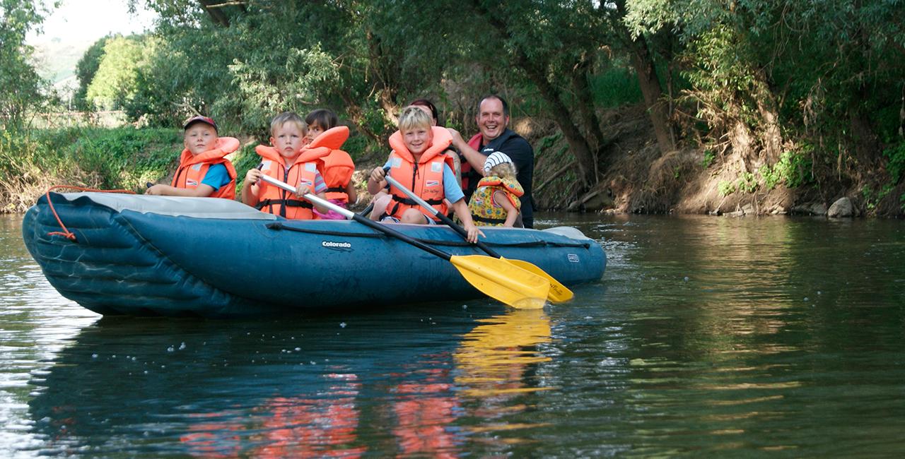 Schlauchboot-Tour Freyburg
