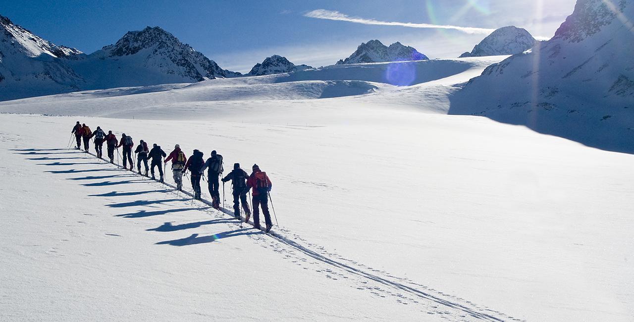 Skitour in Leogang, Österreich