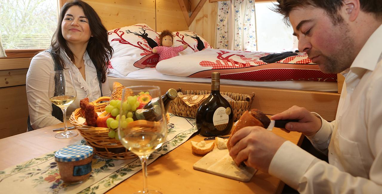 Übernachtung im Schäferwagen in Sulzfeld