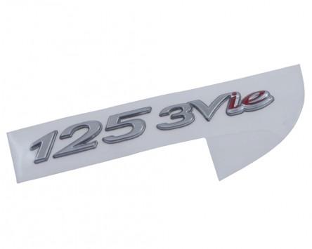 Schriftzug Aufkleber Sticker für Gepäckfach 125 3V i.e. chrom/rot, 78x10mm