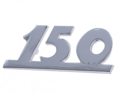 Schriftzug Aufkleber Sticker für Beinschild 150 unterstrichen chrom