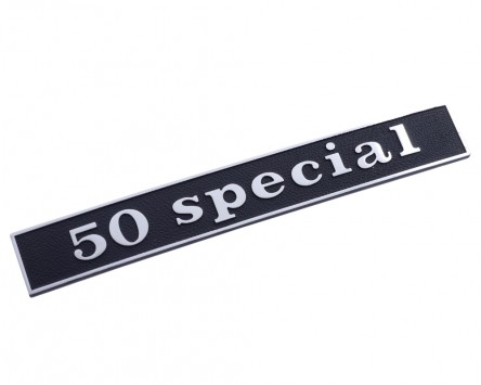 Schriftzug Aufkleber Sticker für Heck 50 special schwarz/alu 132x17mm gerade