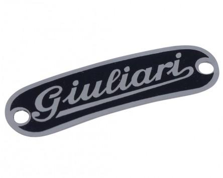 Schriftzug Aufkleber Sticker für Sitzbank GIULIARI
