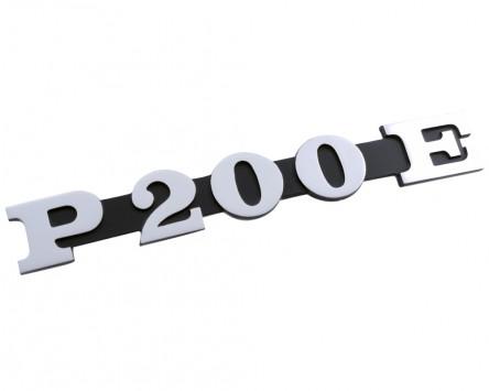 Schriftzug Aufkleber Sticker für Seitenhaube P200E schwarz/alu