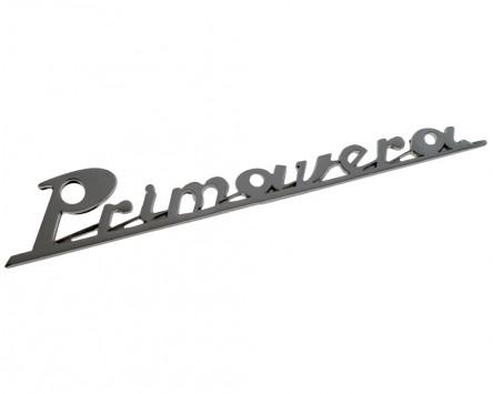 Schriftzug Aufkleber Sticker für Heck Primavera chrom 160x27mm
