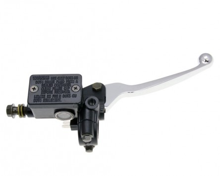 Bremspumpe /Bremszylinder mit Handbremshebel vorn M8 Spiegel