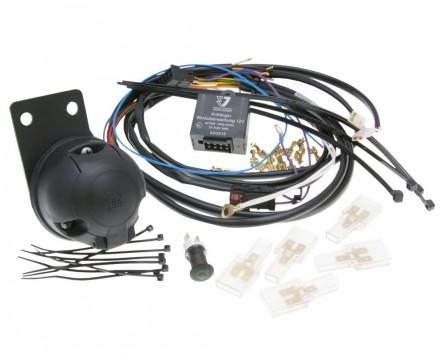 Elektrosatz Anhängerkupplung 7-polig (ISO) für Quad und ATV