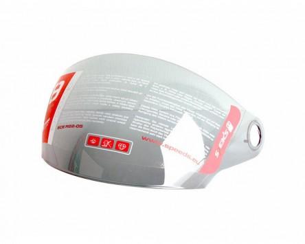 Visier silberfarben beschichtet für Helm Speeds Jet City II